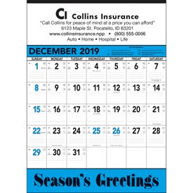 Blue and Black Contractors Memo Calendar (2020)