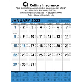 Logo Blue and Black Contractors Memo Calendar
