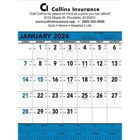 Logo Blue and Black Contractors Memo Calendar