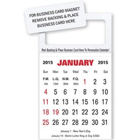 Business Card Magnet Calendar
