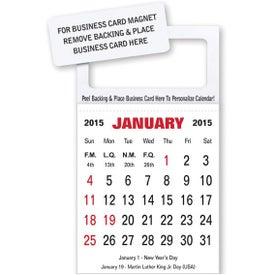Business Card Magnet Calendar