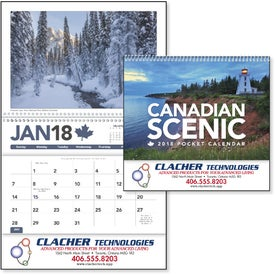 Monogrammed Canadian Scenic Pocket Calendar