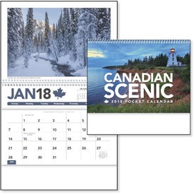 Canadian Scenic Pocket Calendar for Customization