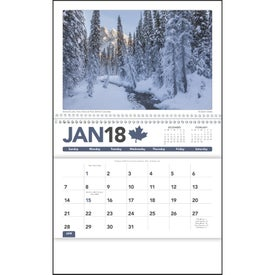 Canadian Scenic Pocket Calendar with Your Slogan