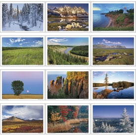 Canadian Scenic Pocket Calendar Imprinted with Your Logo