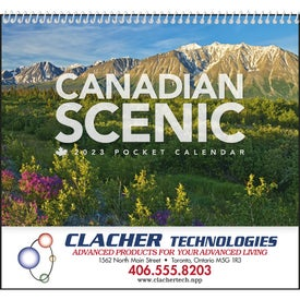 Canadian Scenic Pocket Calendar Branded with Your Logo