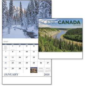 Imprinted Canadian Scenic - Stapled Calendar