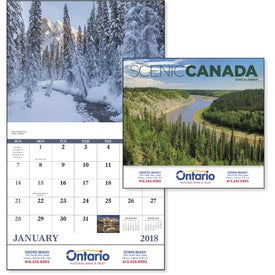 Canadian Scenic - Stapled Calendar with Your Logo