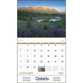 Promotional Canadian Scenic - Stapled Calendar