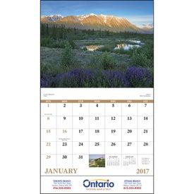 Promotional Canadian Scenic - Stapled Calendar