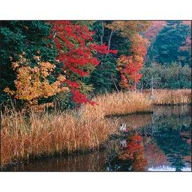 Imprinted Canadian Scenic - Stapled Calendar