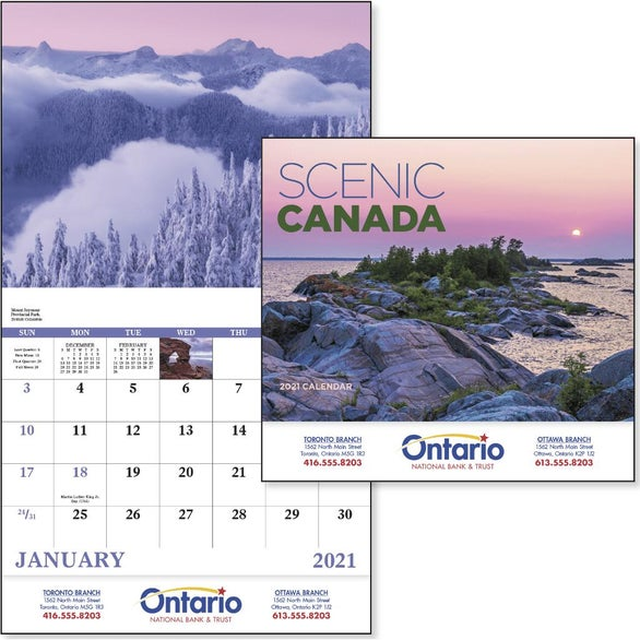 See Item Canadian Scenic Calendar
