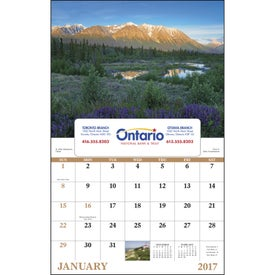 Canadian Scenic - Window Calendar Branded with Your Logo