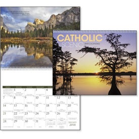 Catholic Scenic Executive Calendar for Advertising