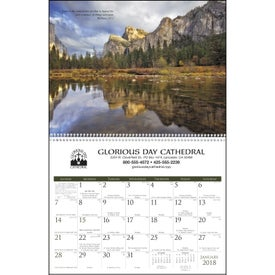 Catholic Scenic Executive Calendar for Customization