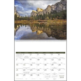 Monogrammed Catholic Scenic Executive Calendar
