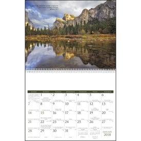 Monogrammed Catholic Scenic Executive Calendar