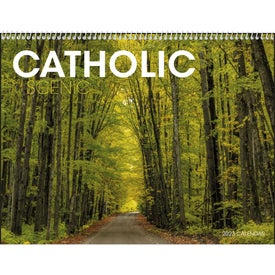 Printed Catholic Scenic Executive Calendar