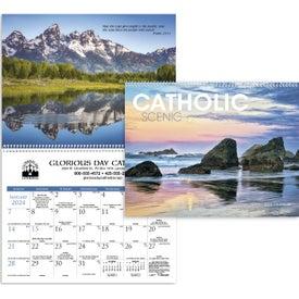 Printed Catholic Scenic Executive Calendar