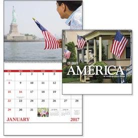 Company Celebrate America Spiral Calendar, English