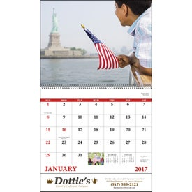 Promotional Celebrate America Spiral Calendar, English