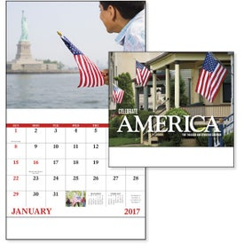 Celebrate America Stapled Calendar, English for Your Company