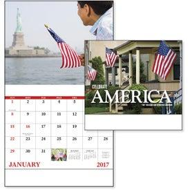 Celebrate America Stapled Calendar, English for Your Company