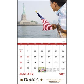 Celebrate America Stapled Calendar, English for Marketing