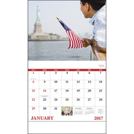 Celebrate America Stapled Calendar, English for Advertising
