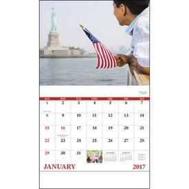 Celebrate America Stapled Calendar, English for Advertising