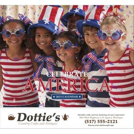 Celebrate America Stapled Calendar, English for Customization