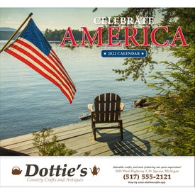 Celebrate America Stapled Calendar, English for Customization