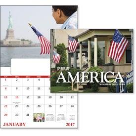 Promotional Celebrate America Window Calendar, English