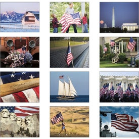 Printed Celebrate America Window Calendar, English
