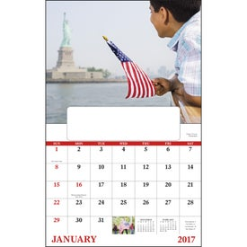 Celebrate America Window Calendar, English Imprinted with Your Logo