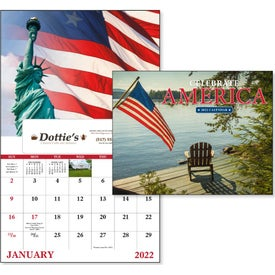 Celebrate America Window Calendar, English Printed with Your Logo