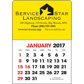 Promotional Stick Up Calendar