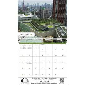Printed City Style Gardens Calendar