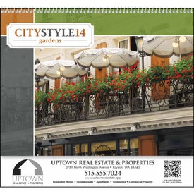 Customized City Style Gardens Calendar