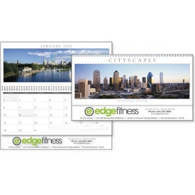 Cityscapes Panoramic Executive Calendar for Your Company