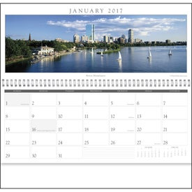 Cityscapes Panoramic Executive Calendar Imprinted with Your Logo