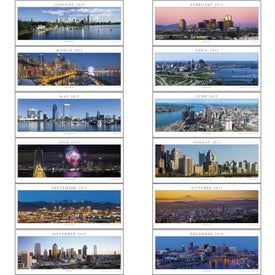 Printed Cityscapes Panoramic Executive Calendar