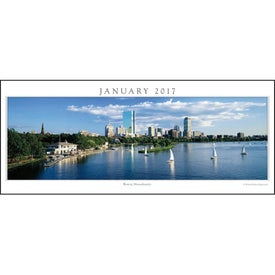 Personalized Cityscapes Panoramic Executive Calendar