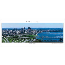 Cityscapes Panoramic Executive Calendar with Your Logo