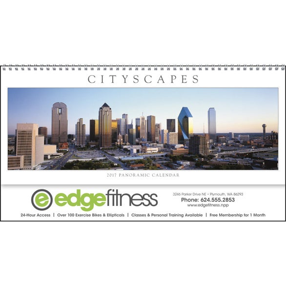 Cityscapes Panoramic Executive Calendar
