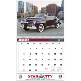 Classic Car Calendar for Customization