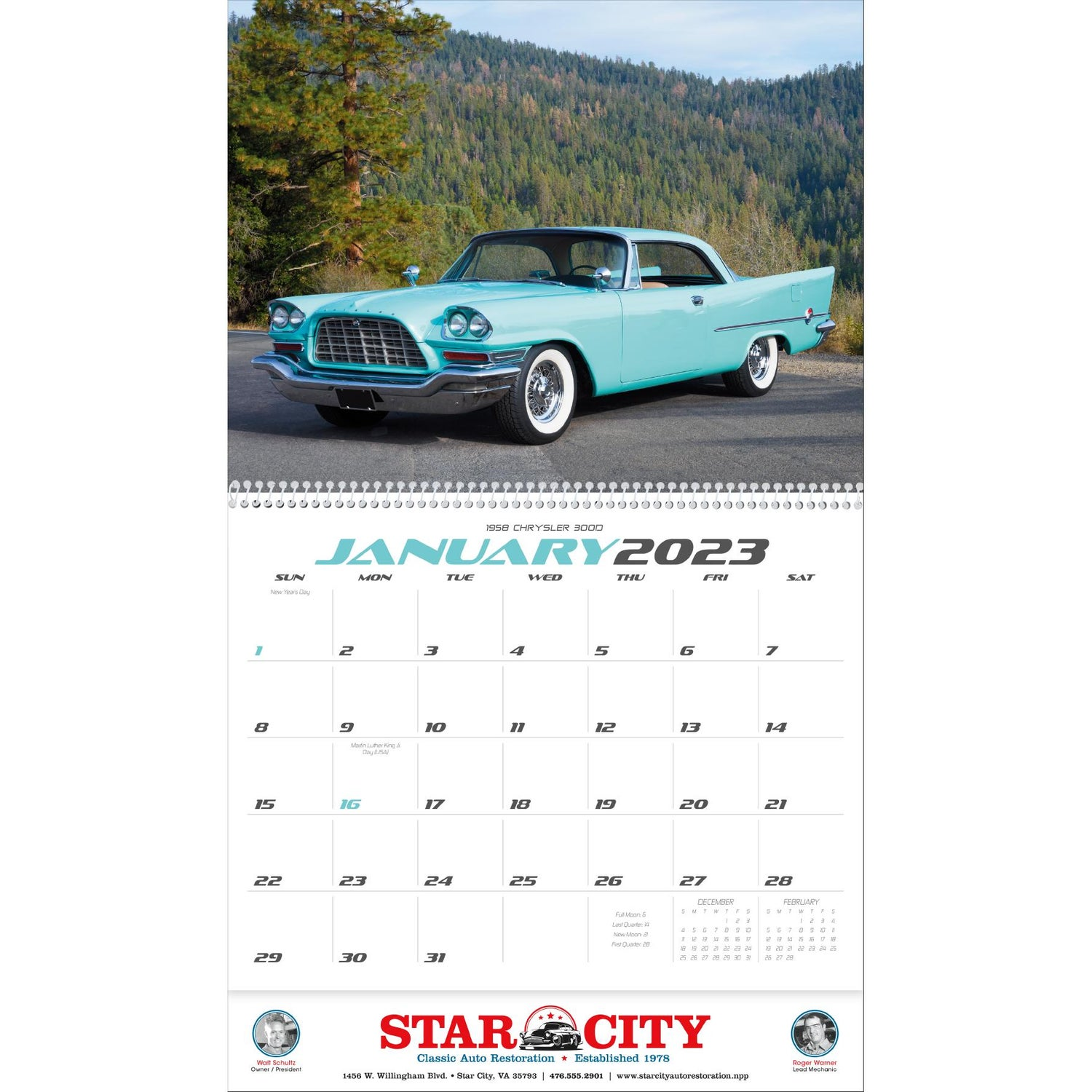 Promotional 2019 Classic Car Calendars with Custom Logo for $1.89 Ea.