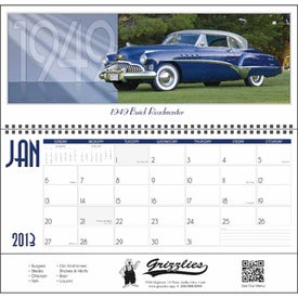 Classic Cars Panoramic Calendar for Marketing