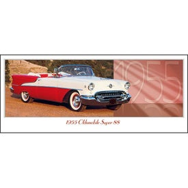 Classic Cars Panoramic Calendar with Your Slogan