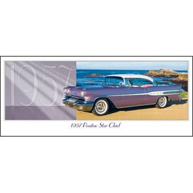 Classic Cars Panoramic Calendar Printed with Your Logo